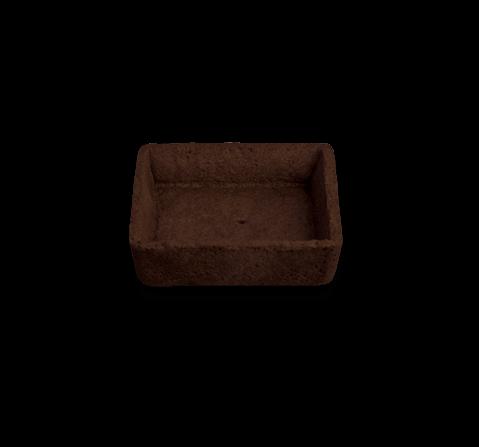 Tartelletta frolla quadrata grande burro al cacao | Cassibba