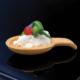Cucchiaio con crema di ricotta e favette verdi | Cassibba ricette
