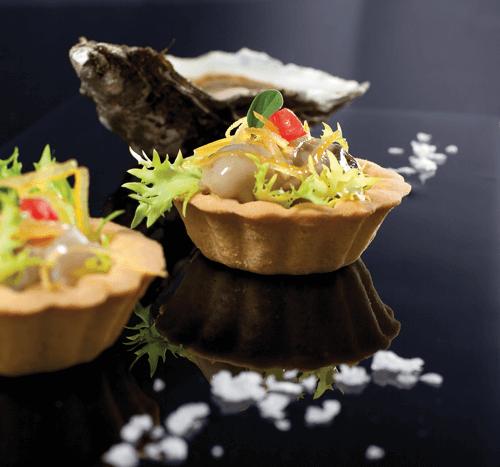 Tartellette con ostriche e limone candito | Cassibba ricette